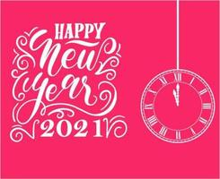 abstract happy new year 2021 vector