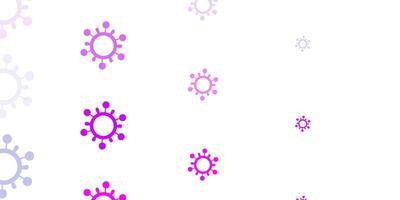 Light Purple, Pink vector template with flu signs.