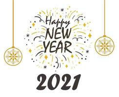 2021 happy new year background vector
