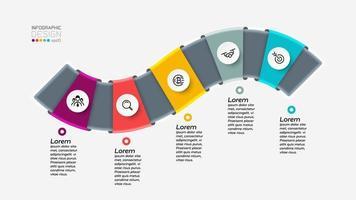 Infographic waveform design steps vector