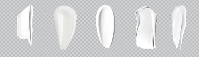 Realistic cosmetic cream smears. vector