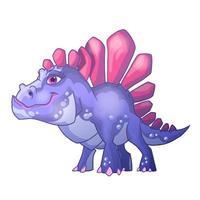 lindo soporte de dinosaurio. estegosaurio. Ilustración de vector de personaje de dibujos animados. se puede utilizar para tarjetas de felicitación de diseño de impresión utilizadas para diseño de impresión, pancartas, carteles, folletos