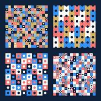 Conjunto de patrones de vector transparente de fondo abstracto