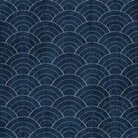 Sashiko seamless indigo dye pattern with traditional white Japanese embroidery vector
