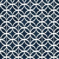 Sashiko indigo dye pattern with traditional white Japanese embroidery vector