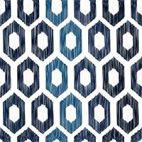 Sashiko seamless indigo dye pattern with traditional white Japanese embroidery