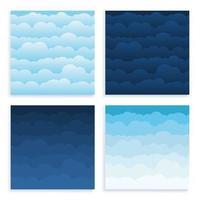 conjunto de cielos de nubes
