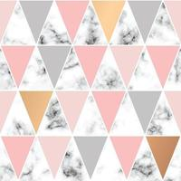 Seamless pattern design with golden geometric lines and triangles vector
