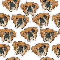 toro, perro, seamless, patrón vector