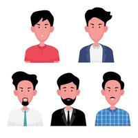 A cartoon character set of business man vector