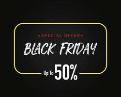 Black Friday Sale Template Background Vector