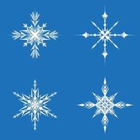 Set of different snowflakes.