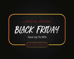 Black Friday Special Offer Sale Template Background Vector