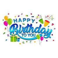 etiqueta engomada del feliz cumpleaños vector