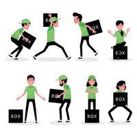 un conjunto de personajes de dibujos animados de empresarios logísticos vector