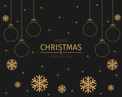 Golden Christmas and New Year Background Vector