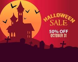 vector de fondo de venta de halloween