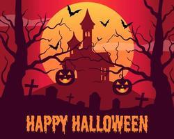 Halloween background flat design template Vector