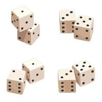 Dice in different angles.