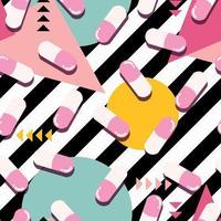 pastillas y cápsulas pop de patrones sin fisuras vector