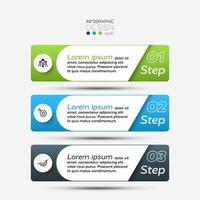 3 step infographic tab set vector
