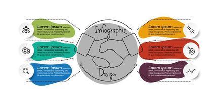 6 step infographic design