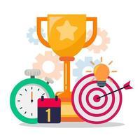 business goal achievement concept vector