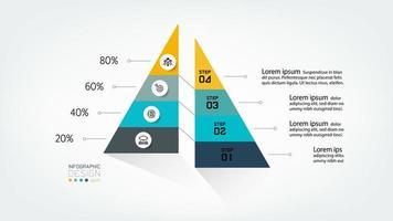 Triangular infographics design vector