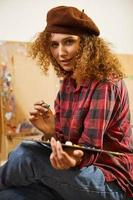 Artist wearing beret
