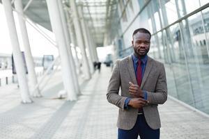 Man in a suit walking