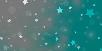 Light BLUE vector template with circles, stars.