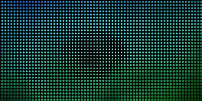 Light Blue, Green vector pattern with spheres.