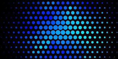 Fondo de vector azul oscuro con círculos.