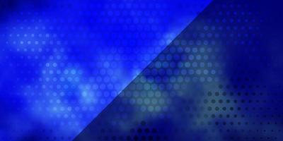 patrón de vector azul oscuro con círculos.