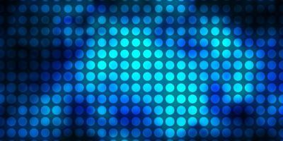 Dark BLUE vector background with circles.