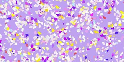 plantilla de vector multicolor claro con formas abstractas.