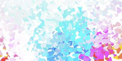 Light multicolor vector template with abstract forms.