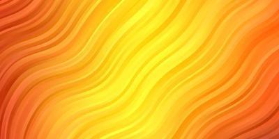Dark Orange vector pattern with curves.