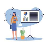 avatar de mujer con diseño de vector de tablero