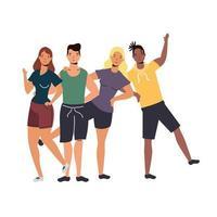 Women and men avatars vector design
