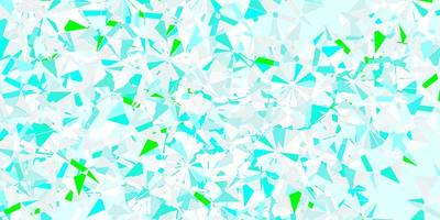 Light blue, green vector pattern with colored snowflakes.