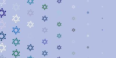 textura de vector multicolor claro con símbolos de enfermedades.