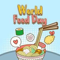 ilustración vectorial del día mundial de la alimentación vector