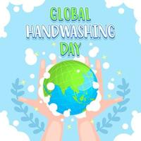 día mundial del lavado de manos, conciencia nacional sobre el lavado de manos vector