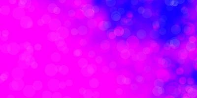 plantilla de vector de color púrpura claro, rosa con círculos.
