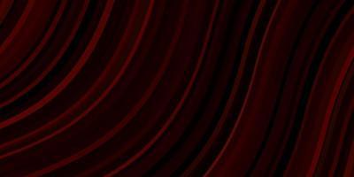 diseño de vector rojo oscuro con líneas torcidas.