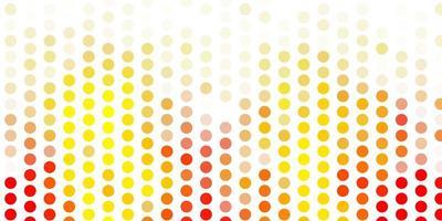 textura de vector naranja claro con discos