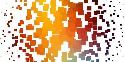 telón de fondo de vector multicolor claro con rectángulos.