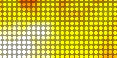 Light Orange vector template with circles.