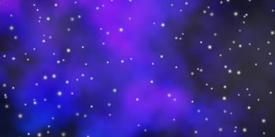 diseño vectorial de color rosa oscuro, azul con estrellas brillantes.
